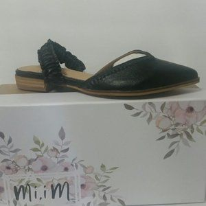 Mi.iM Shoes - Pointed Ruffle Strap Mules
